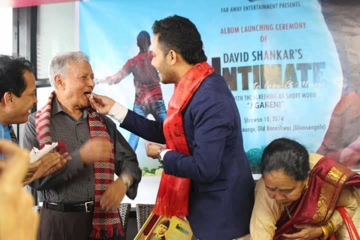 prem dhwaj pradhan  with singer devid shankar