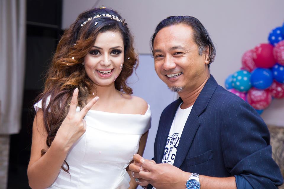 Actress Neeta Dhungana and Nepali Glamour Photographer kamal shrestha