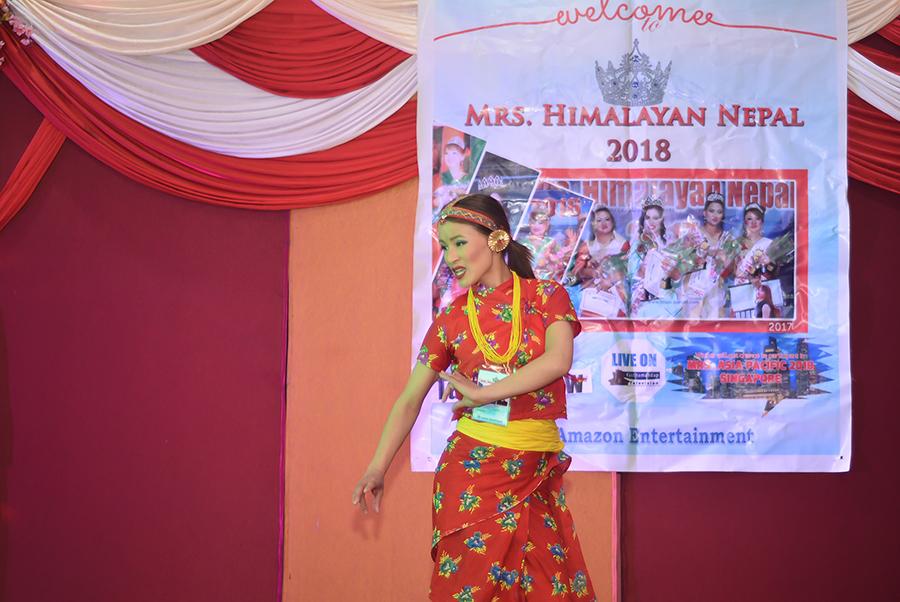 Mrs Himalayan Nepal - talent show 14