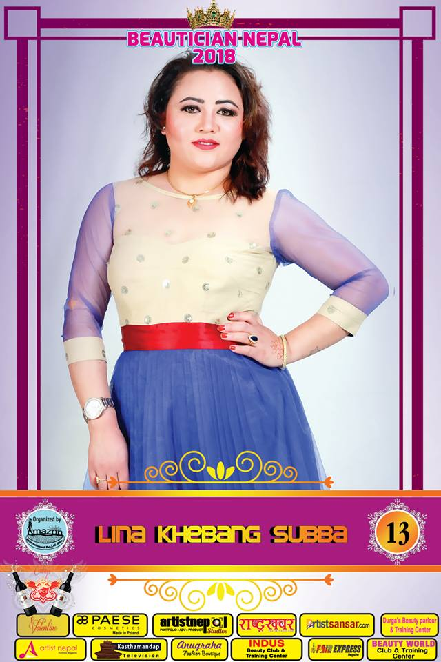 13-Beautician Nepal 2018 - LINA KHEBANG SUBBA - Amazon Entertainment- ArtistNepal