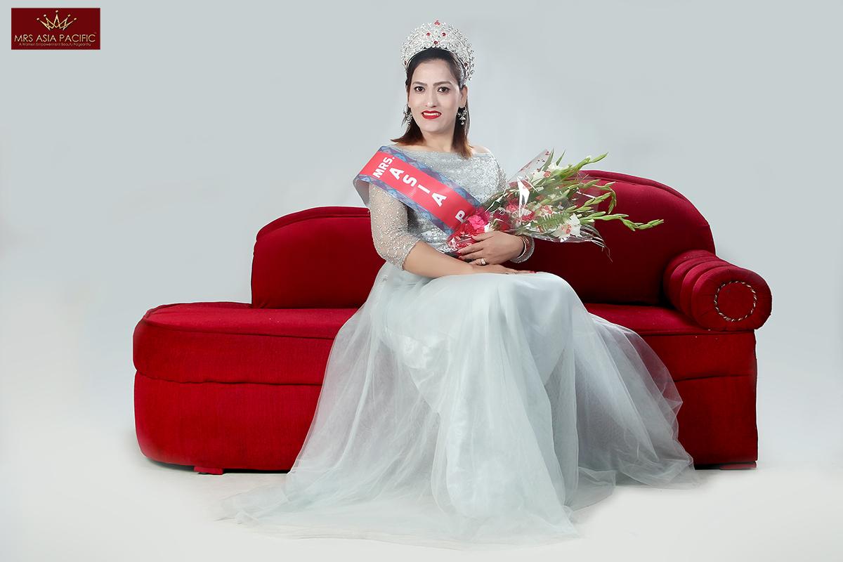 Mrs. Asia Pacific Beauty Pageant goma adhikari 2
