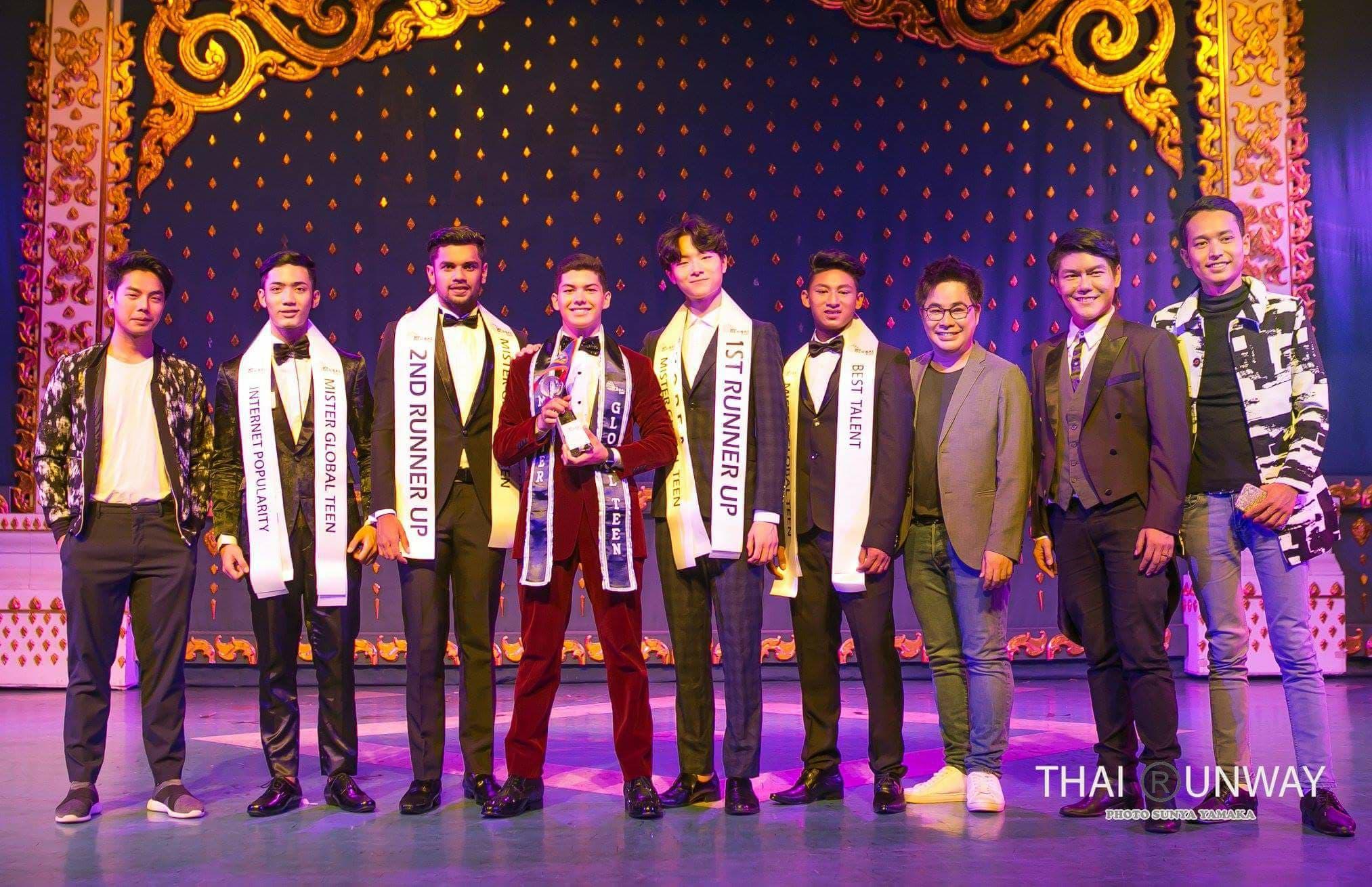 Raj Khadka winning the best talent award top 5 finalists in 3rd Mister Global Teen at Thailand (1)