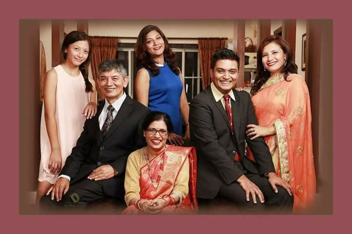 family madan krishna shrestha
